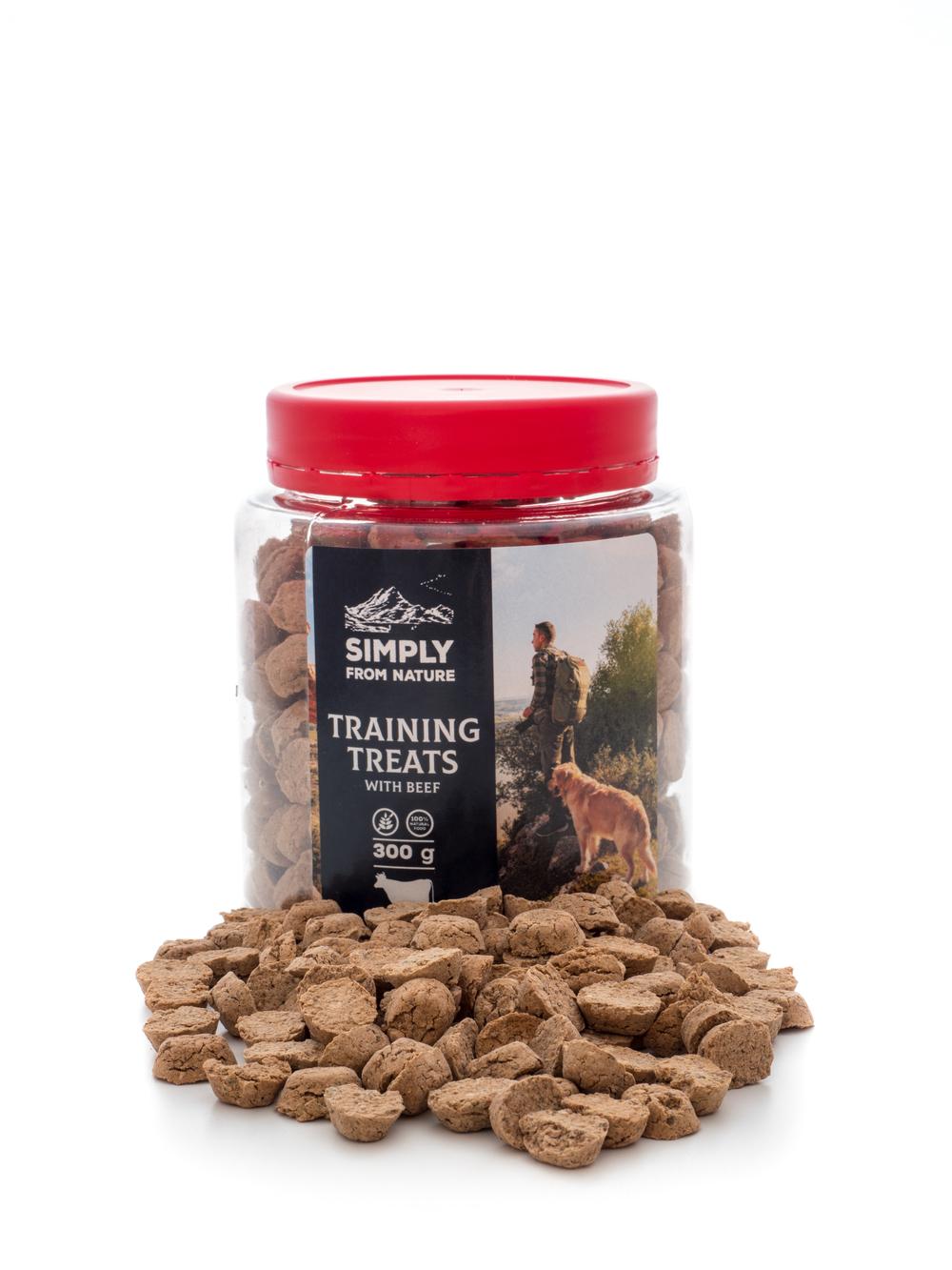 Drobne, łatwe do zjedzenia smaczki treningowe dla psa. Nie brudzą rąk