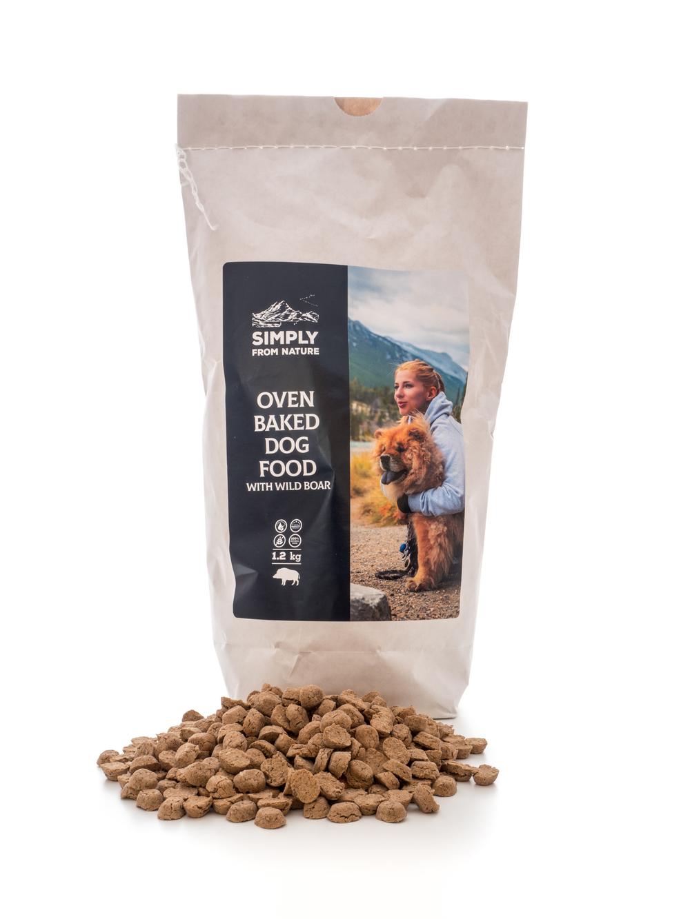 Sucha karma dla psa. Wypiekana w piecu, z dużą zawartością mięsa