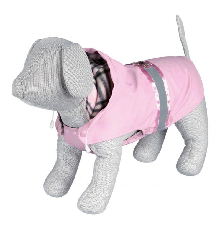 Przykładowe ubranko dla psa. Płaszczyk z kapturem, posiada elementy odblaskowe.