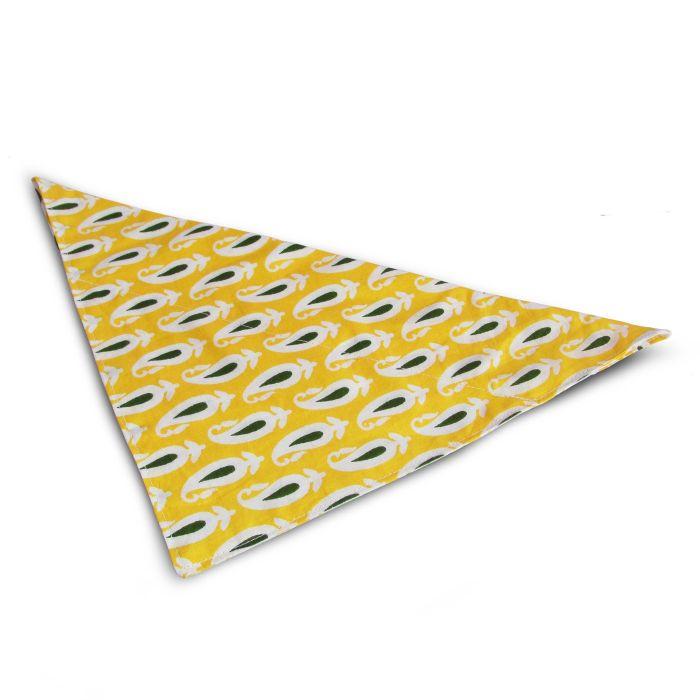 Żółta bandana dla psa.