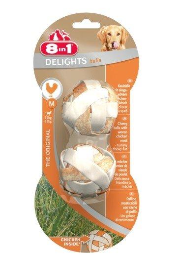 8IN1 Przysmak dla psa Delights Balls M z kurczakiem