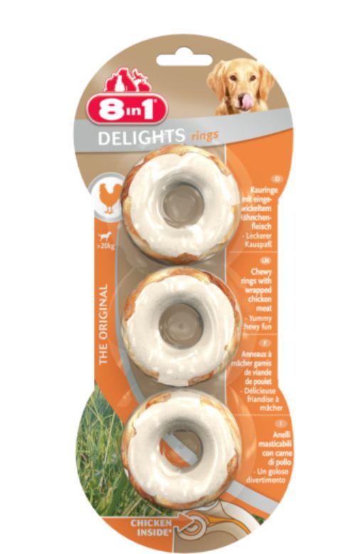 8IN1 Przysmak dla psa Delights Rings 3 szt