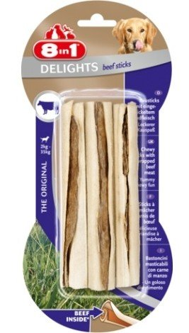 8IN1 Przysmak dla psa Beef Delights Bone Sticks 3 szt