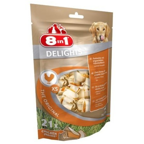 8IN1 Przysmak dla psa Delights Bones XS 21 szt.