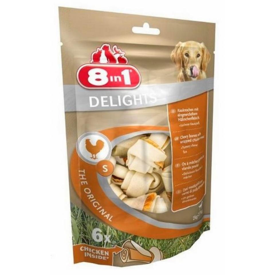 8IN1 Przysmak dla psa Delights Bone S 6 szt z kurczakiem