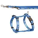Smycz z uprzężą niebieska 23-34 cm / 8 mm