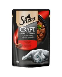 Sheba Craft Collection Mięsiste kawałki z wołowiną Karma w sosie dla kota 12x85g