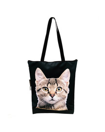 Torba klasyczna na zakupy Kot szary