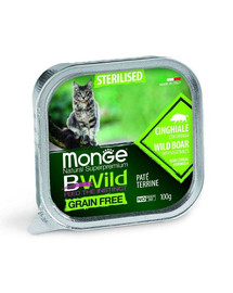 BWild Cat grain free Sterilised dzik 100g