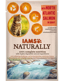 Naturally Senior Cat with North Atlantic Salmon in Gravy 85 g