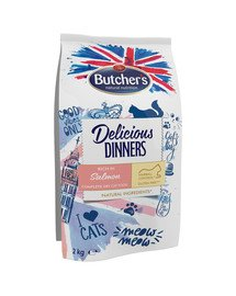 Delicious Dinners Cat dry Salmon/fish 2 kg