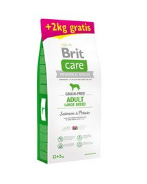 Care Grain-free Adult Large Breed Salmon & Potato 12kg + 2 kg