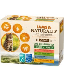Naturally Adult Cat Land & Sea Collection 12x85 g