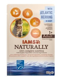 Naturally Adult Cat with North Atlantic Herring in Gravy 85 g