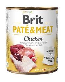 Pate & Meat chicken 400 g mokra karma z czystym kurczakiem dla psa