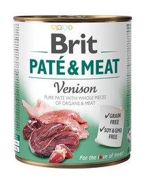 Pate & meat venison 400 g mokra karma z dziczyzną dla psa