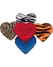 Pluszowe serce dla kota, z walerianą plusz 14 cm