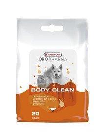 Oropharma Body Clean Cats & Dogs 20szt chusteczki do czyszczenia sierści