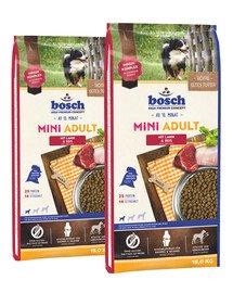 BOSCH Mini Adult jagnięcina i ryż 30 kg (2 x 15 kg)