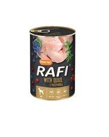 RAFI Quail z przepiórką 400 g mokra karma dla psa