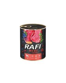 RAFI Beef z wołowiną 800 g mokra karma dla psa