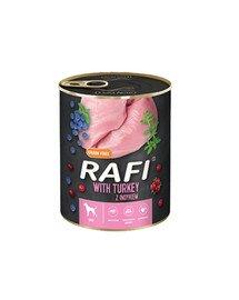 RAFI Turkey z indykiem 800 g mokra karma dla psa
