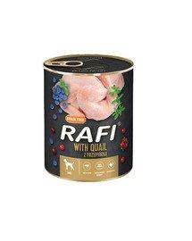 RAFI Quail z przepiórką 800 g mokra karma dla psa