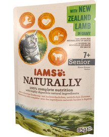 Naturally – mokra karma dla starszych kotów z jagnięciną nowozelandzką w sosie