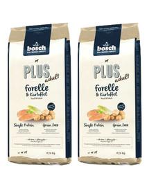 BOSCH Plus Pstrąg & Ziemniak 25 kg (2 x 12,5 kg)