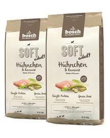 BOSCH Soft Kurczak & Banan 25 kg (2 x 12,5 kg)