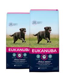 EUKANUBA Active Adult Large Breed bogata w świeżego kurczaka 30 kg (2 x 15kg)