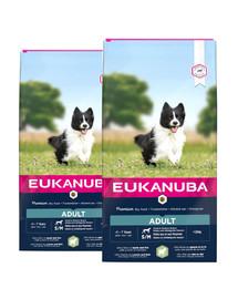 EUKANUBA Adult Small & Medium Breeds Lamb & Rice 24 kg (2 x 12 kg)