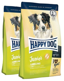 HAPPY DOG Junior Jagnięcina i Ryż 20 kg (2 x 10 kg)