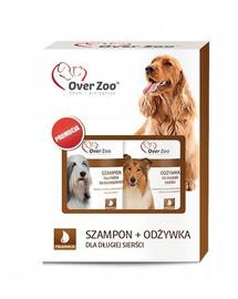 Zestaw szampon i odżywka dla psów długowłosych 490 ml