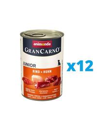 ANIMONDA GranCarno Junior zestaw z wołowiną i kurczakiem 12 x 800 g