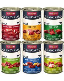 ANIMONDA GranCarno mix smaków 6 x 800 g