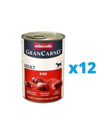 ANIMONDA GranCarno zestaw z wołowiną 12 x 800 g
