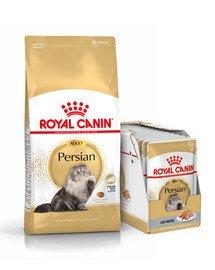 ROYAL CANIN Persian Adult 10 kg + karma mokra dla kotów rasy pers 12x85 g