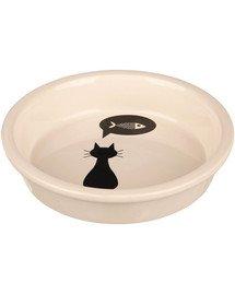 Miska ceramiczna dla kota z kocim motywem 0,25l/13cm
