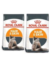 ROYAL CANIN Hair&Skin Care 20 kg (2 x 10 kg) karma sucha dla kotów dorosłych, lśniąca sierść i zdrowa skóra