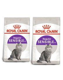 ROYAL CANIN Sensible 33 karma sucha dla kotów dorosłych, o wrażliwym przewodzie pokarmowym 20 kg (2 x 10 kg)