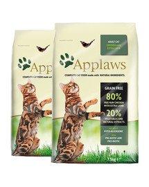 APPLAWS Dry cat Adult kurczak i jagnięcina karma dla dorosłych kotów 15 kg (2 x 7,5 kg)