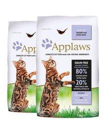 APPLAWS Dry cat Adult kurczak i kaczka karma dla dorosłych kotów 15 kg (2 x 7,5 kg)