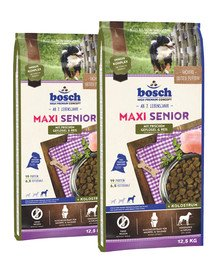 BOSCH Maxi Senior drób i ryż 25 kg (2 x 12,5 kg)