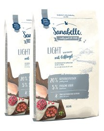 BOSCH Sanabelle light drób 20 kg (2 x 10 kg)