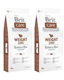 BRIT Care Weight Loss rabbit & rice 24 kg (2 x 12 kg)