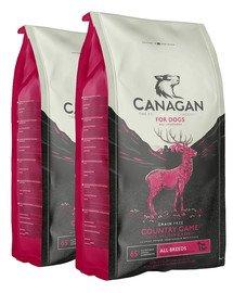 CANAGAN Dog Country Game sucha karma dla psów 24 kg (2 x 12 kg) dziczyzna