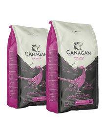 CANAGAN Dog Highland Feast sucha karma dla psów 24 kg (2 x 12 kg) bażant