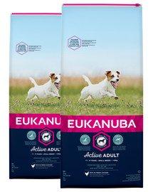 EUKANUBA Active Adult Small Breed bogata w świeżego kurczaka 30 kg (2 x 15kg)