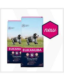 EUKANUBA Caring Senior Medium Breed bogata w świeżego kurczaka 30 kg (2 x 15kg)